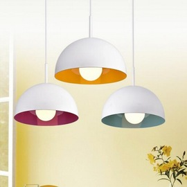 Color restaurant three-head combination chandelier modern simple iron art Nordic lamps and lanterns artistic personality creative lighting