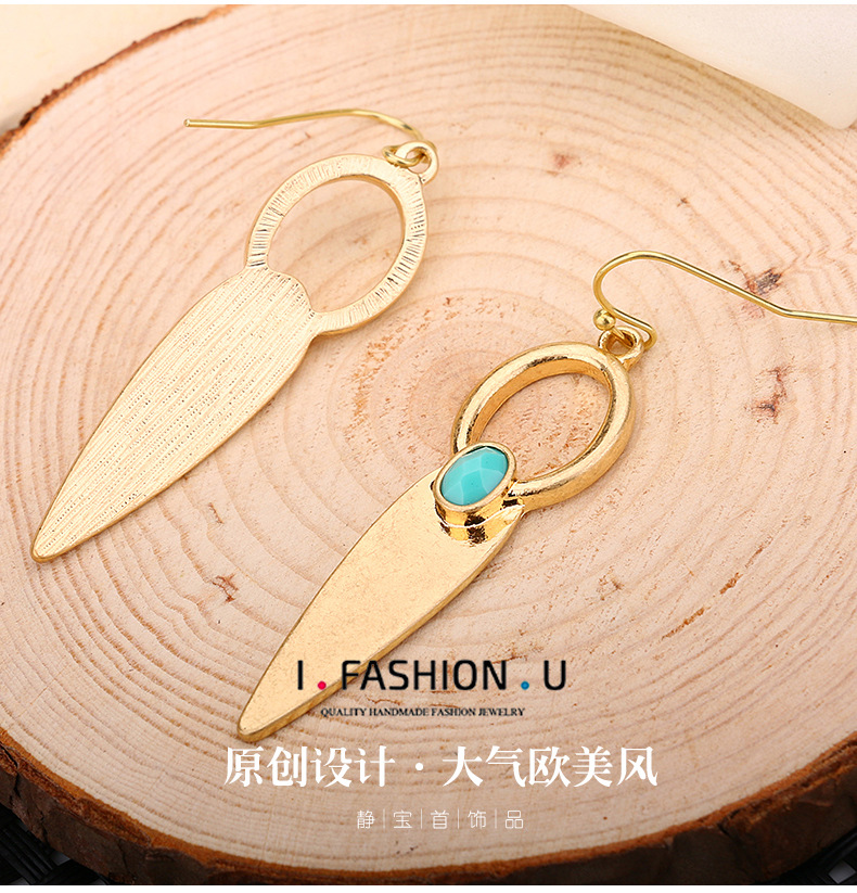 Fashion OL Occident and the United States metal plating earring NHBJ0214