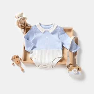 Infants and young children 0-2 years old leotard triangle Kazakhstan clothing Korean new spring clothes fart baby clothi