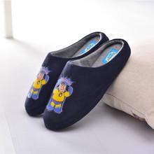 男冬季居家棉拖鞋 外貿出口拖鞋 秋天木地板防滑鞋卡通冬室內軟底