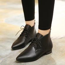 18流行女式短靴  时尚个性百搭尖头潮流优雅单鞋女靴  厂家直销