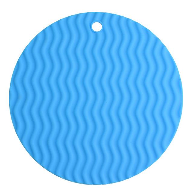 miếng đệm cách nhiệt Bảng Mats silicone lớn trượt bát giữ pad nồi silicone mat phần dày gợn sóng Silicone giả