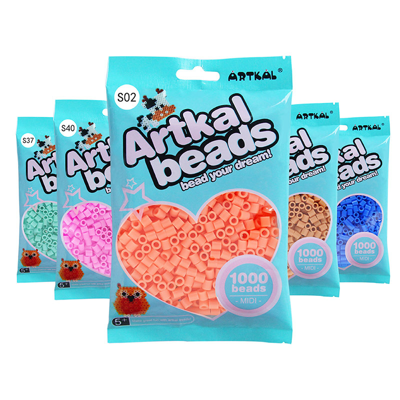 ARTKAL兒童益智玩具5mm融合拼拼豆豆1000粒拼圖玩具 全色206色
