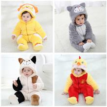 一件代發奇樂兔冬季寶寶連體衣爬服哈衣造型衣童裝嬰兒裝加厚男女