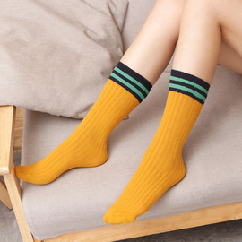 Japanese spring and autumn cotton thin children's socks parent-child socks reverted to ancient times short boots and long-barrel women's socks