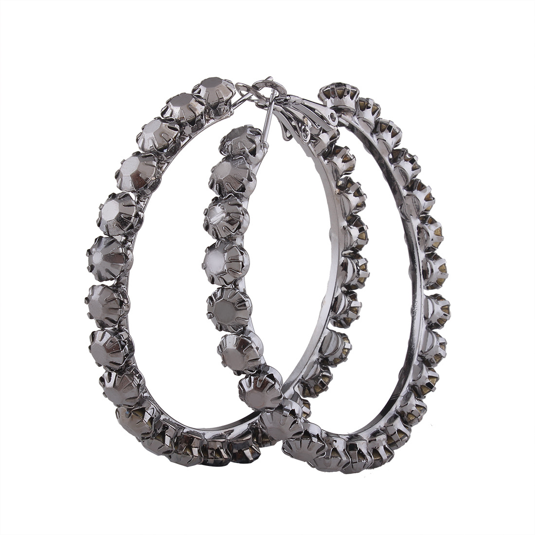 Occident and the United States alloy Diamond earring (No 4 - gun black)NHNMD3765-No 4 - gun black