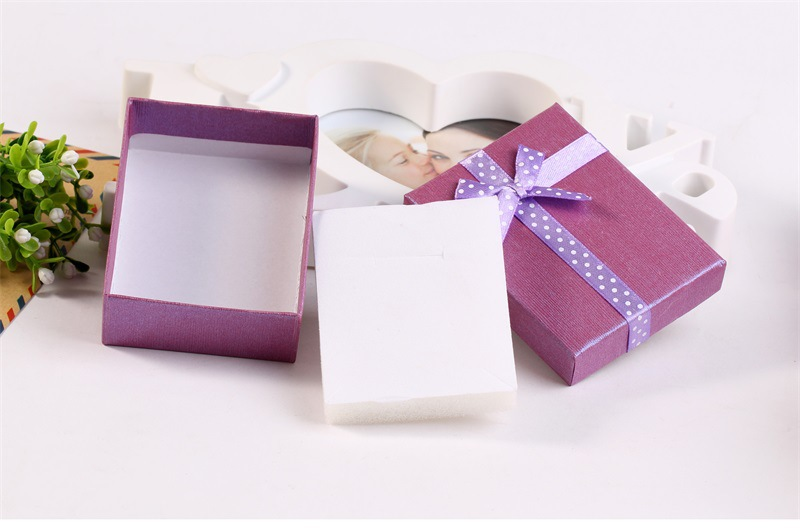 jewelry box Cover Carton Gift Box Packaging Bow Box Hot Sale Ring Box wholesale nihaojewelry NHKQ230943