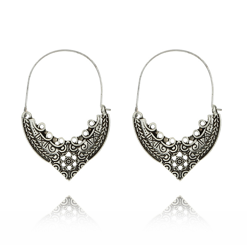 Fashion Alloy plating earring Flowers (Ancient gold)NHGY1582-Ancient gold