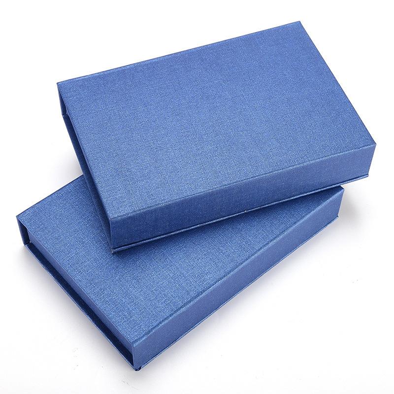 现货翻盖特种纸礼品盒 内裤通用包装盒子 蓝色翻盖硬纸盒直销