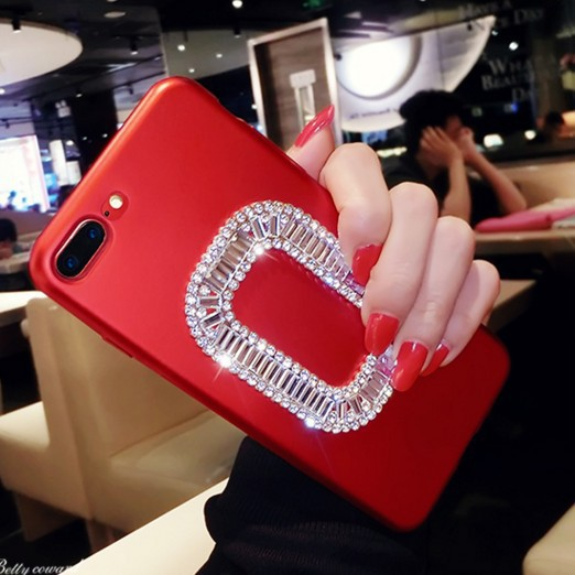 European and American street fashion for R15 8plus XR xs r9s x20 R11s China red square rhinestone protective sleeve