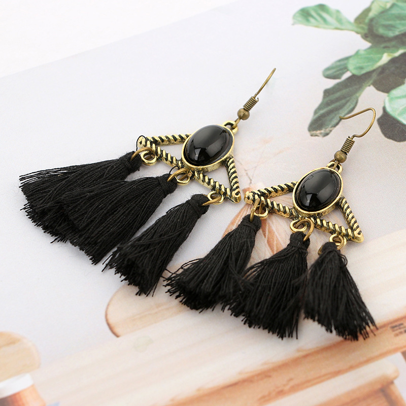plating earring (black)NHGY0634-black
