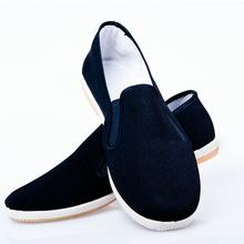 老北京布鞋男圆头透气单鞋平跟低帮工作鞋一脚蹬地摊货源厂家直销