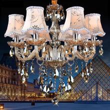 歐式led水晶燈客廳燈 現代簡約餐廳燈臥室燈溫馨燈具復古水晶吊燈