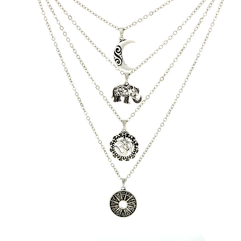 Occident and the United States alloy plating necklace NHGY0501