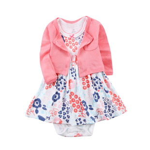 Hot-selling hot-selling suits and skirts for girls and toddlers, cotton dresses, long-sleeved jackets, two-piece skirts