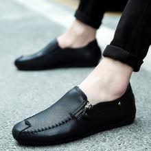春季豆豆鞋男士休闲懒人鞋代理皮鞋潮鞋透气韩版爆款男鞋一件代发