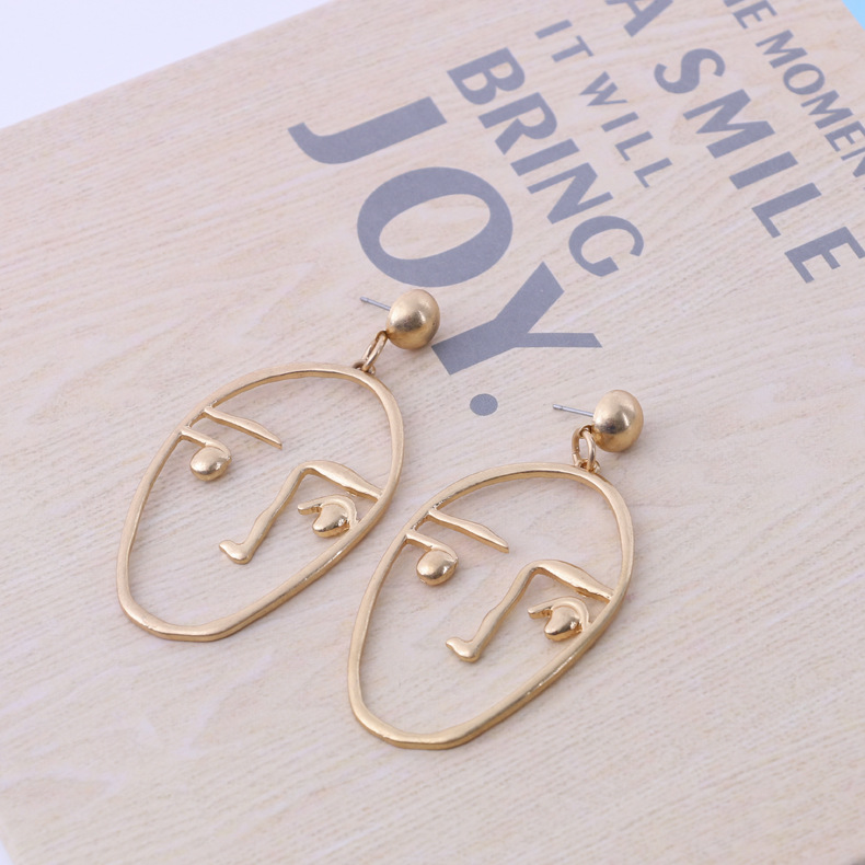 Fashion OL alloy plating earring (Photo Color)NHBJ0274-Photo Color