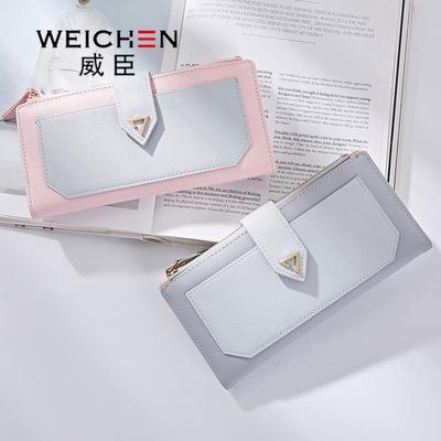 WEICHEN / Weichen 2018 Hàn Quốc phiên bản mới AliExpress dài đoạn cá tính ladies wallet các nhà sản xuất bán buôn trực tiếp
