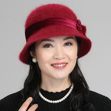 2018新款秋季帽子女士兔毛渔夫帽冬天韩版盆帽潮针织女帽厂家直销