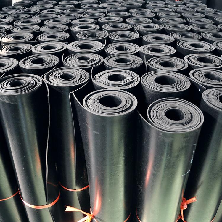 工業橡膠板現貨銷售 普通加厚高彈橡膠襯板 黑色平面光滑阻燃膠皮