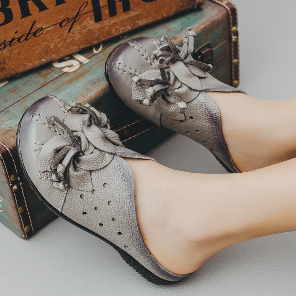 原创手工鞋2020夏季新款真皮凉拖鞋女民族风个性镂空牛皮拖鞋低跟