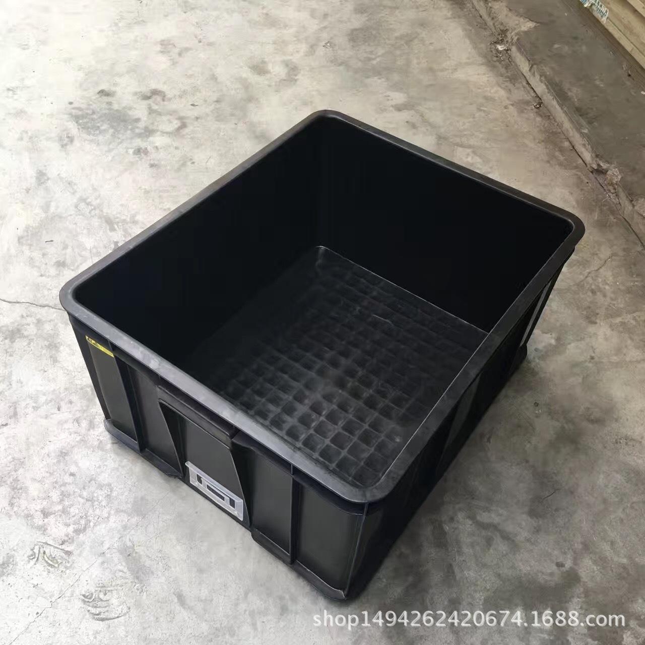 塑胶筐塑料防静电周转箱黑色电子配件储物箱加厚款塑料框