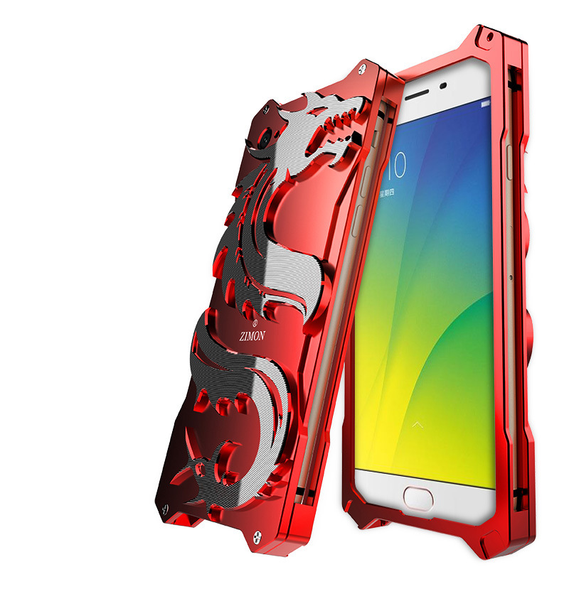 SIMON Dragon Aerospace Aluminum Alloy Shockproof Armor Metal Case Cover for OPPO R9s & OPPO R9s Plus