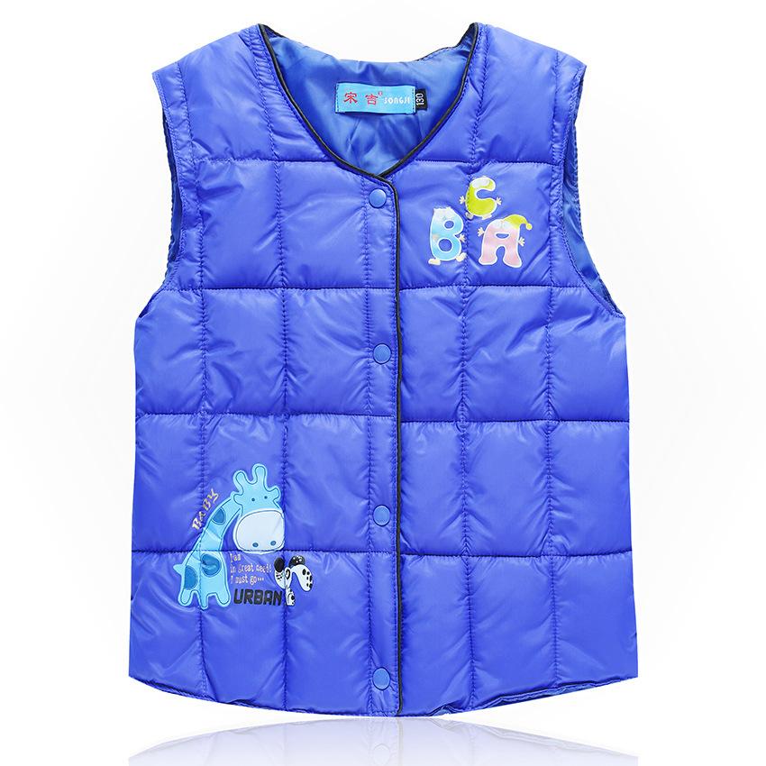 2020冬季男女兒童棉衣棉服馬甲中大童保暖坎肩可愛背心120-160cm