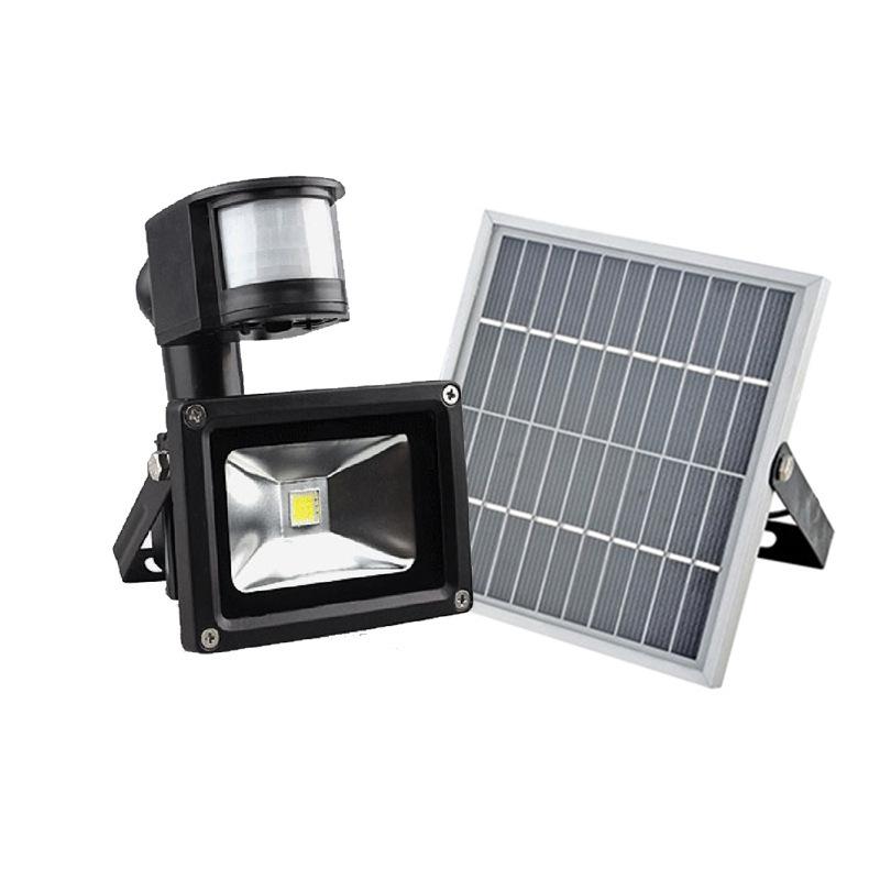 太阳能投光灯人体感应家用防水庭院灯新农村建设照明灯楼梯工厂灯