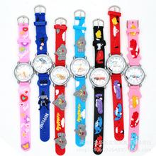 厂家批发 卡通动漫3D儿童硅胶手表  可定制手表 大量现货供应