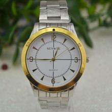 新款推荐 装饰三眼六针手表 商务男表 钢带石英手表 批发礼品手表