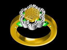 不銹鋼鑲嵌黃水晶男款戒指企業定制 防身 怎么買金戒指—瑪瑙飾品