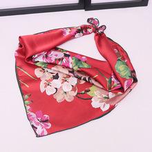 新款小方巾雪纺丝巾女韩国星星围巾披肩?#25509;?#22799;季防晒职业装饰领巾