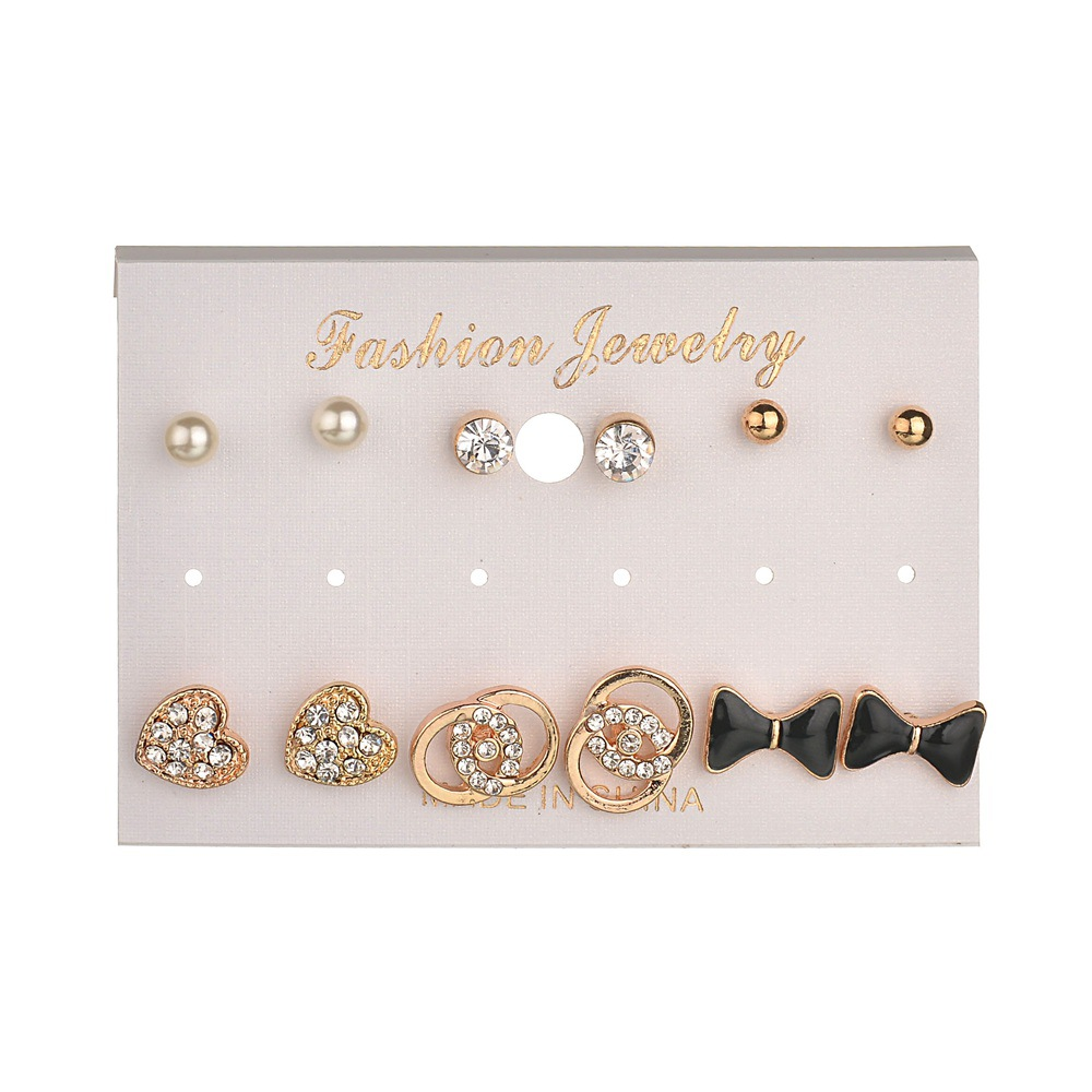 Occident and the United States alloy Diamond earring (Main color)NHBQ0979-Main color
