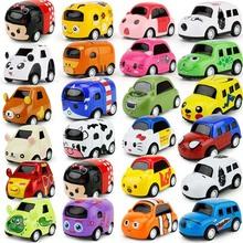 新品趣味卡通回力合金车模口袋玩具小汽车 儿童迷你掌中宝Q版小车