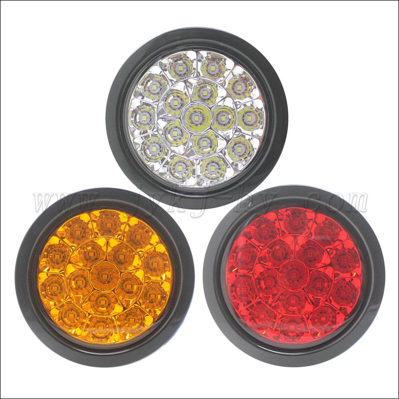 led汽车尾灯 圆形中集拖卡尾灯 行车灯 转向灯外贸中性宽电压输入