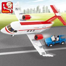 快樂小魯班 航空天地C-概念飛機M38-B0365 益智拼裝玩具模型積木