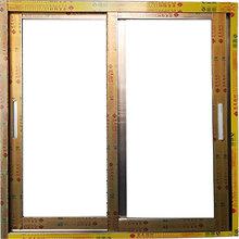 香槟色中空玻璃铝门窗来图定制隔音铝合金窗户封阳台坚美牌推拉窗
