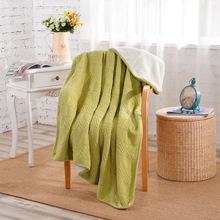 新春特價秋冬加絨全純棉針織毛線毯羊羔絨 毛毯空調毯