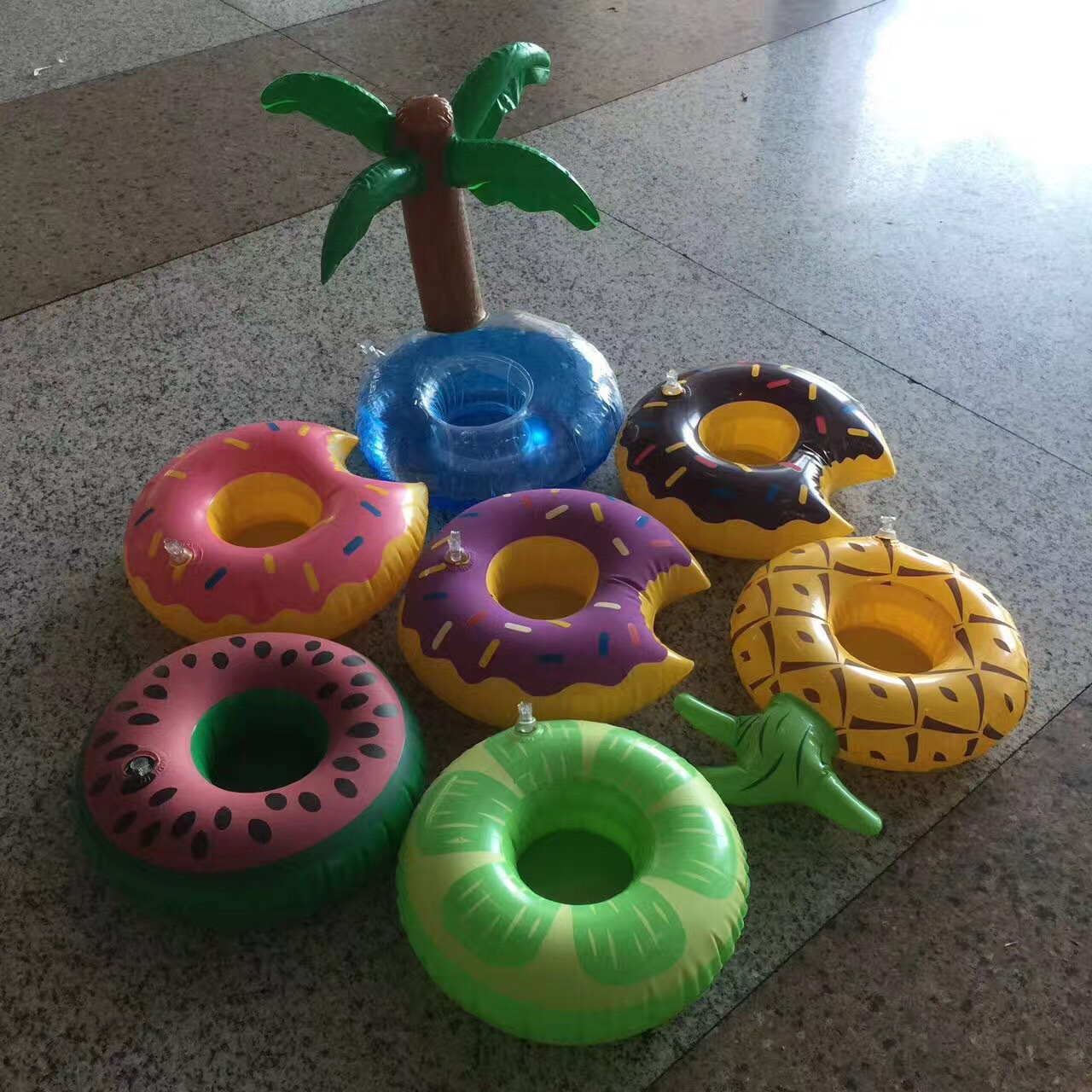 Fashion inflatable water coconut tree cup holder NHWW142487