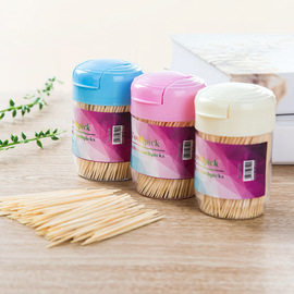 2263 toothpick box bamboo toothpick disposable double toothpick portable fine toothpick hotel home toothpick