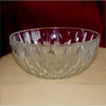 批发钻石玻璃碗盘六件套 餐饮套装碟盘套 玻璃工艺品 玻璃碗