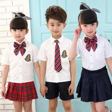 幼儿园园服夏装短袖套装小学生校服班服西装英伦风衬?#32511;?#35013;9280