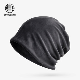 Bib dual-use winter solid color silver fox velvet outdoor ski caps for my factory