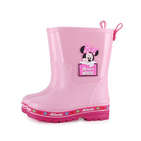 Phim hoạt hình Disney và bé trai và bé gái trượt trong giày đi mưa Thời trang có thể tháo rời cộng với giày lót nhung cho trẻ em Giày đi mưa