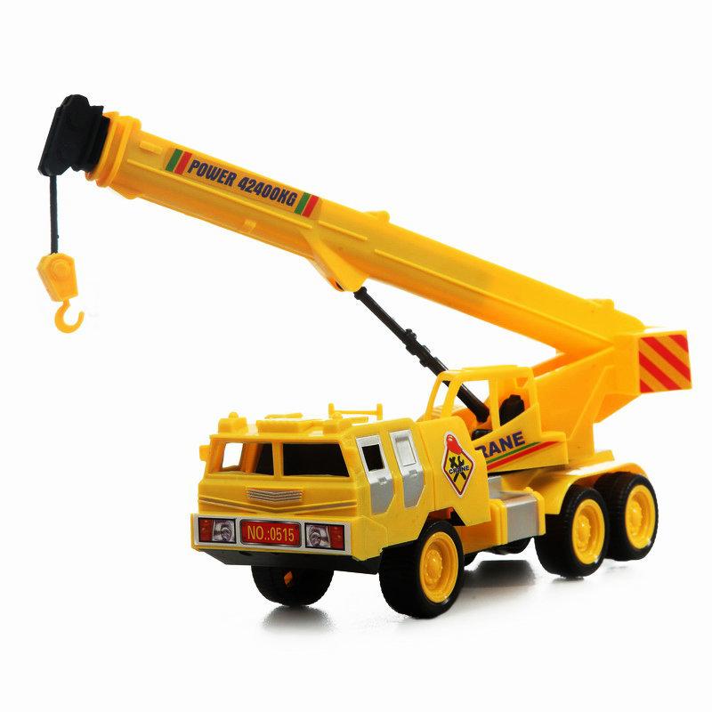 秋冬季热卖 儿童玩具吊车工程起重车伸缩车惯性工程车3C安全认证