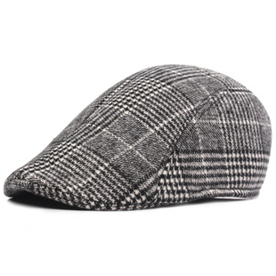 Cotton beret, men's cap, winter warm forward hat, middle-aged and elderly hats, wholesale and foreign trade hats