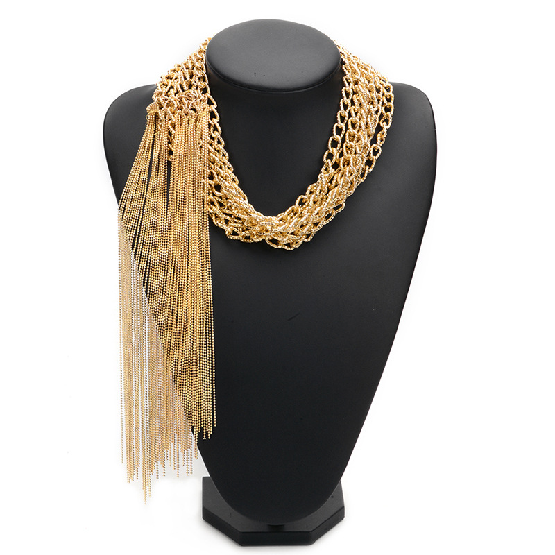 alloy plating necklace (Gold)NHWF2171