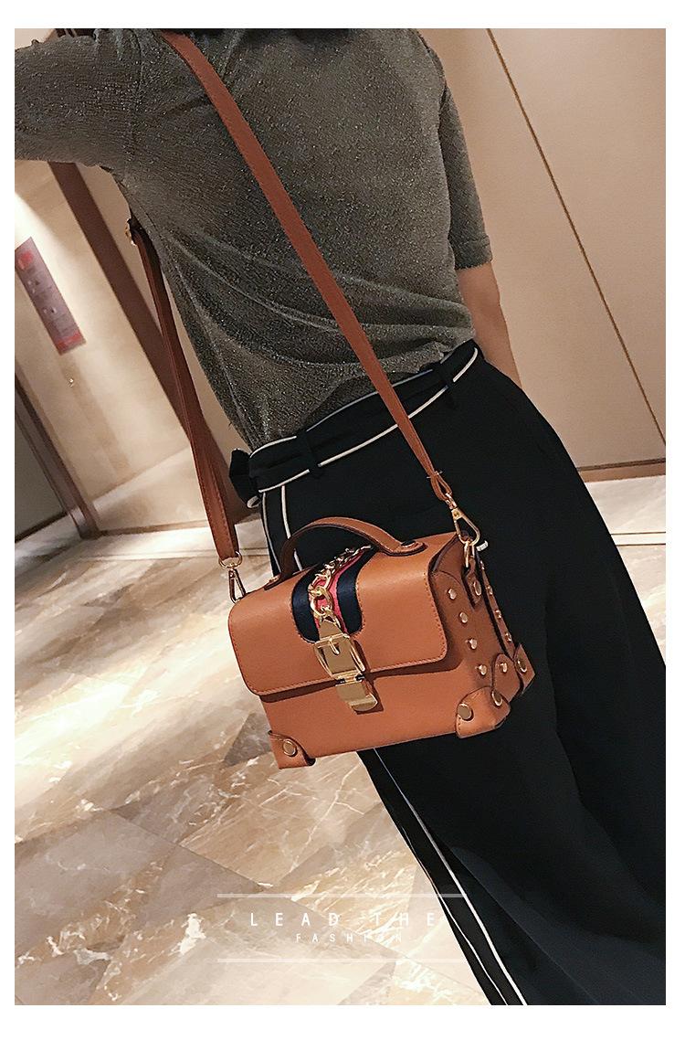 Korean version PUShoulder bag (brown)NHPB0294-brown