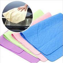 汽车洗护用品 鹿皮巾 擦车巾 中号 车用清洁用品 一件代发洗车巾